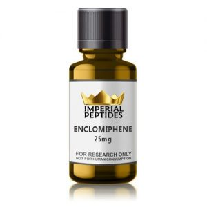 Enclomiphene 25mg for sale at Imperial Peptides Research Chemicals